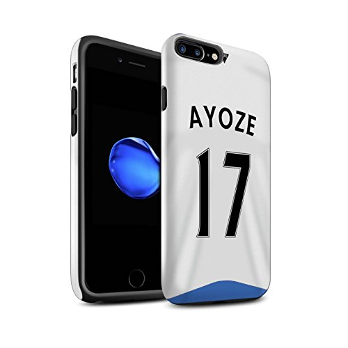 Offiziell Newcastle United FC Hülle / Glanz Harten Stoßfest Case für Apple iPhone 7 Plus / Rivière Muster / NUFC Trikot Home 15/16 Kollektion Ayoze