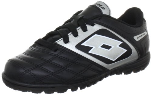 lotto-sport-stadio-potenii-700-tf-jr-sports-shoes-football-boys-black-schwarz-black-silver-size-30