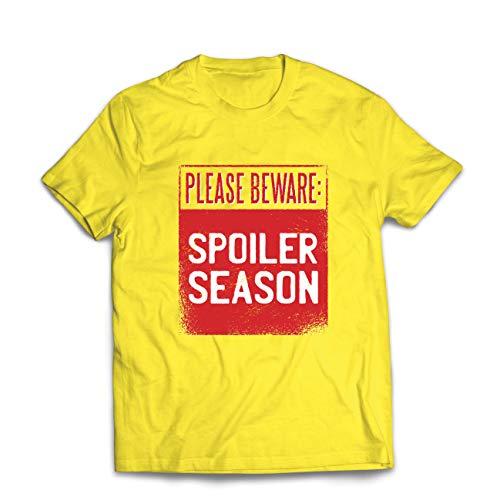 lepni.me Männer T-Shirt Achtung: Verwöhnte Jahreszeit, sarkastischer Slogan, humorvolles Geschenk (X-Large Gelb (Beste Original Paare Kostüme)