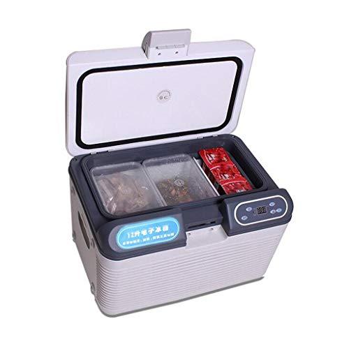 WJSWBX 12L 12V DC 220V AC Kälteheizung Kühlschrank Kühlschrank Mini-Kühlschrank Kleinstkühlschrank für Privathaushalte Auto-Kühlschrank mit doppeltem Verwendungszweck Größe 280MM * 300MM * 420