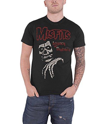 Misfits - Top - Maniche corte - Uomo grigio Large