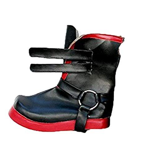 Cosstars Fullmetal Alchemist Edward Elric Anime Shoes Cosplay Schuhe (Edward Elric Halloween)
