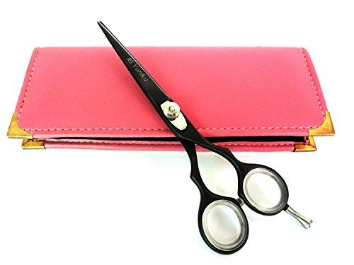 Professionnel de coiffure Ciseaux de coupe de cheveux ciseaux ciseaux Barber Salon Styling 15,2 cm bords de Rasoir en Acier Japonais avec étui Noir