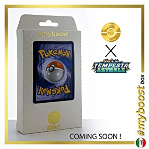 Metagross 95/168 Holo Reverse - #myboost X Sole E Luna 7 Tempesta Astrale - Box de 10 cartas Pokémon Italiano
