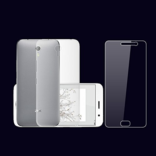 Premsons Lenovo Zuk Z2 Soft Silicon Plastic Designer Back Cover Case + Tempered Glass Ultra-Thin Transparent Tpu Material  available at amazon for Rs.99
