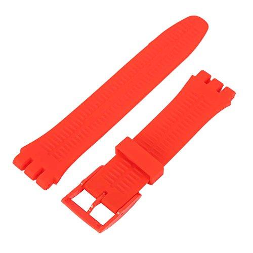 Wingbind Silikonarmband Ersatzarmband 17mm/19mm/20mm mit Schnellverschluss für Swatch