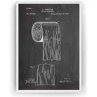 Papel de Baño Poster de Patente Patent Póster Con Diseños Patentes Decoracion de Hogar Inventos Carteles Prints Wall Art Posters Regalos Para Hombres Mujeres Decor Blueprint - Marco No Incluido