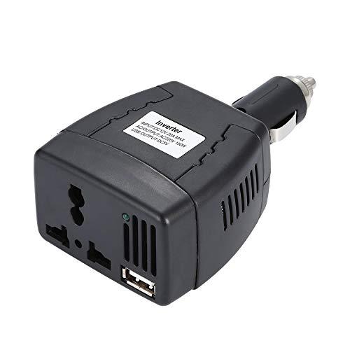 Yao 12v 220v 150W Power Inverter DC to AC 12V to 110V/220V Car Voltage Converter Black 2.1A Ac 150 Watt Power Inverter