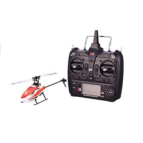 Gxscy XK K110 6CH 3D 6G système Télécommande Toy brushless RC hélicoptère avec émetteur Compatible Cadeau approprié for Les débutants en Particulier