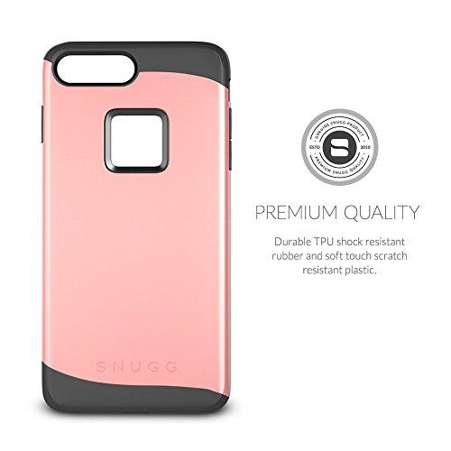 Cover iPhone 7 Plus , Snugg Apple iPhone 7 Plus Custodia Case [Scudo Sottile] Protettiva Per Pelle – Oro, Infinity Series Rose Gold