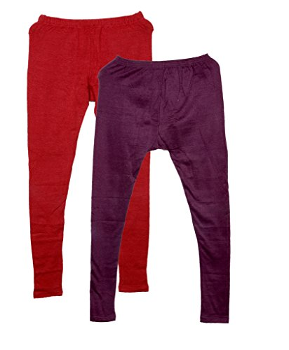 Indistar Womens Full Ankle Length 2 Wollen Warm and 1 Cotton Legging(Pack of 3)