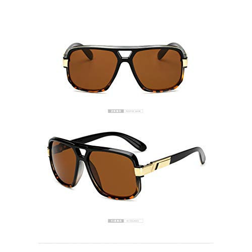 CCGSDJ Platz Sonnenbrillen Männer Luxury Brand Design Paar Dame Promi Flache Heiße Frauen Sonnenbrille Super Star Cool Eyewear