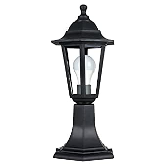 garden lamp. Traditional Black IP44 Outdoor Garden Lamp Post Lantern Light C