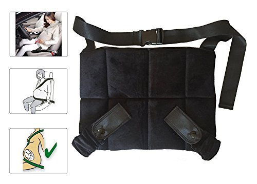 Protector Cinturón Embarazada, CompraFun Cinturón Maternidad Ajustable, Seguridad y Comodidad para Mujeres Embarazadas, Protege a Tu bebé por Nacer, Suministros Necesarios para el Embarazo