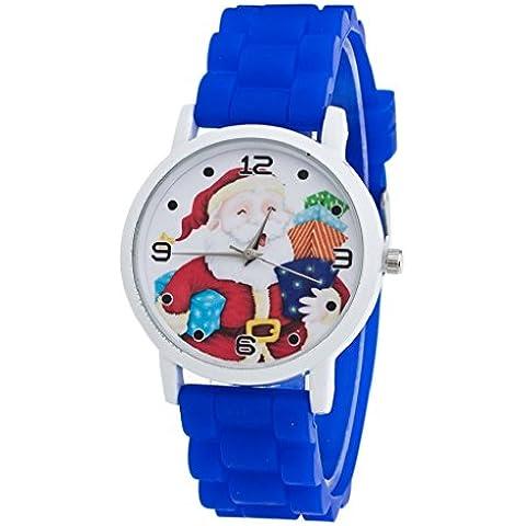 Regalos de Navidad ,Tongshi niños del color del reloj del silicón reloj de la correa (azul marino)