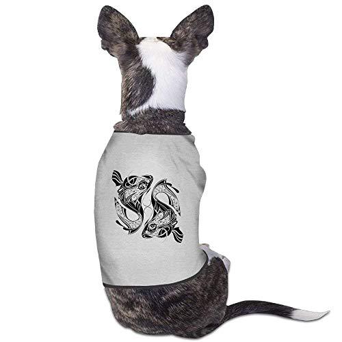 GSEGSEG Hunde-Kostüm mit chinesischem Fisch-Muster, für Hunde und Katzen, aus Polyester