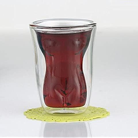 XJoel creativa nu nu cristalinas bol de vidrio de cóctel chicas Copa Cerveza Doble regalos del vino fino Desnuda capa de vidrio disparo Chica Taza de cristal