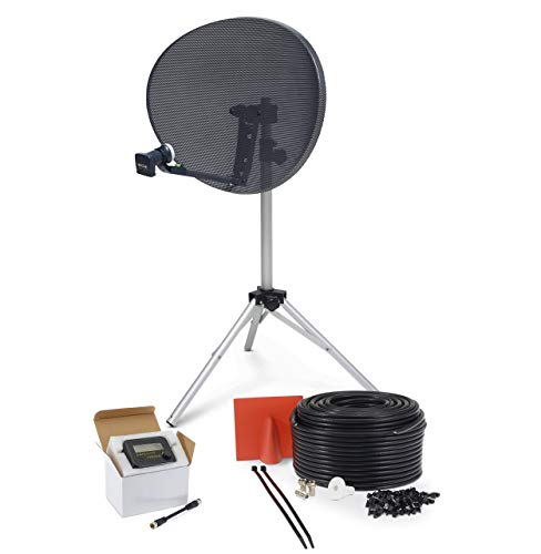 SSL Satellites Zone 2 Quad Satellite Signal Finder Twin 5 Meter Black Cable FTA LNB Signal Pointer Satellite TV Finder