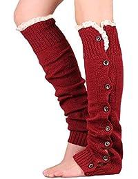In the Dream Calcetines de Encaje abotonados de Navidad, Calcetines de Punto Rectos, Juegos
