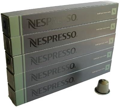 Nespresso Cápsulas originales Café, 50Cápsulas originales Indriya