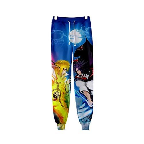 H&Y Männer Frauen Fashion Jogger Hosen Sporthose Mit Tunnelzug 3D Print Naruto Jogginghose,XS