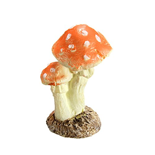 (Minzhi 3Pcs Pilz Toadstool Miniature Garden Figurine Decor)