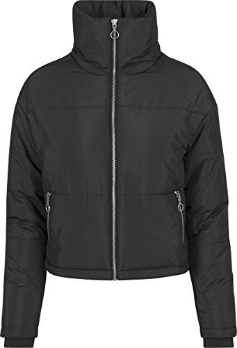 Urban Classics Damen Ladies Oversized High Neck Jacket Jacke,, per pack Schwarz (black 7), X-Small (Herstellergröße: XS)