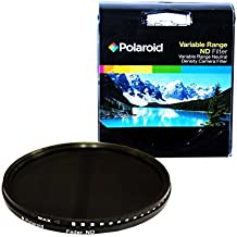Polaroid PLFILFDND77 - Filtro ND (densidad neutra) HD de 77 mm de rango variable con multirrevestimiento (ND3, ND6, ND9, ND16, ND32, ND400)