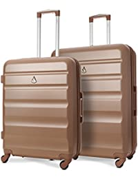 Aerolite Super Lightweight 3 Piece ABS Hard Shell Travel Suitcase Luggage Set with 4 Wheels