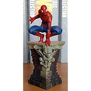 Figura de Plomo Marvel Figurine Collection Especial SPIDERMAN SOBRE CORNISA 3