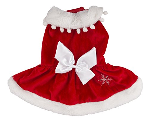Pet Brands Christmas Novelty Mrs Clause Dog Outfit, Medium
