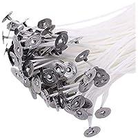 Ogquaton Paquete de 50 mechas pre enceradas de 20cm para la fabricación de Velas con sostenedores