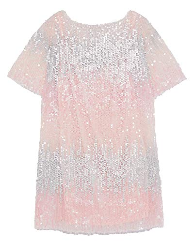 584f5455cd9 Zara Women s Sequinned Dress 2878 163 (Large) Pink