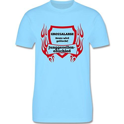 JGA Junggesellenabschied - Grossalarm - Herren Premium T-Shirt Hellblau