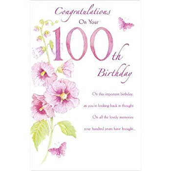 100th Birthday Greetings Card