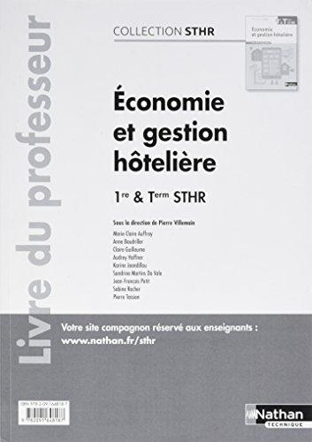 Economie et gestion hôtelière 1re et Tle STHR
