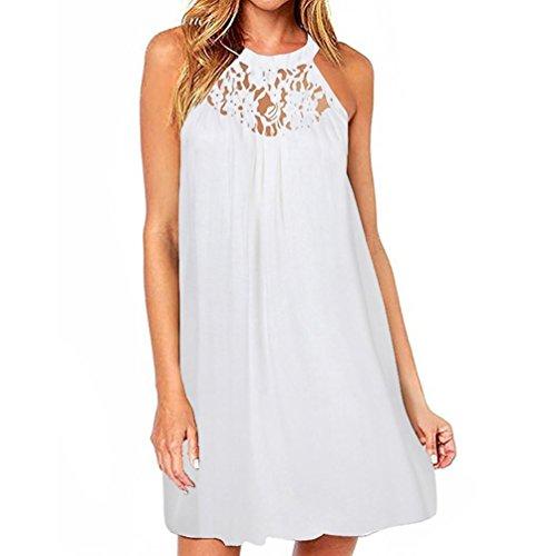 Kleider SANFASHION Damen Frauen Sommer ärmelloses Kleid Bodycon Abendgesellschaft Short Mini Dress...