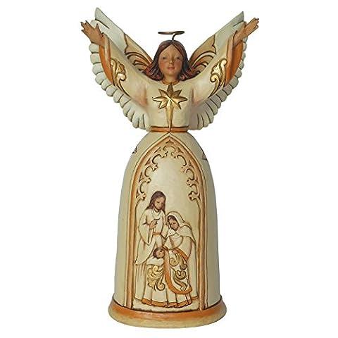Enesco 4044105 Heartwood Creek, Ivory And Gold Nativity Engel