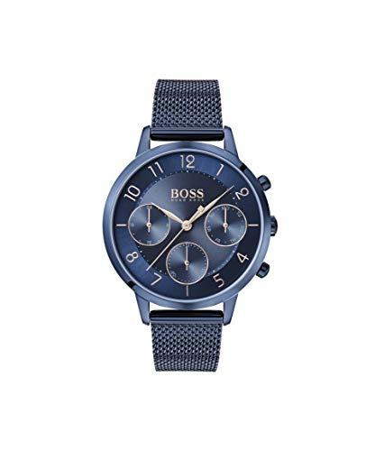 Hugo BOSS Damen Analog Quarz Uhr mit Edelstahl Armband 1502509 - Uhren Damen Movado