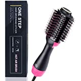 Salon One Step Hair Dryer & Volumizer, cepillo de aire caliente Salon Hot Air Paddle Styling Brush Cepillo de alisado de pelo generador de iones negativos para mujeres con cabello largo o corto