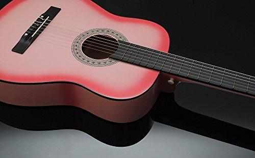 TS Ideen 5338 Chitarra Acustica, Dimensioni Regolari, Colore Rosa