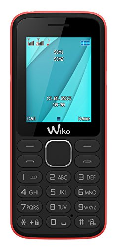 Wiko Lubi 4 Blister Téléphone portable débloqué 2G (Ecran: 1,7 pouces - 64 Mo - Double SIM) Noir/Pink Candy