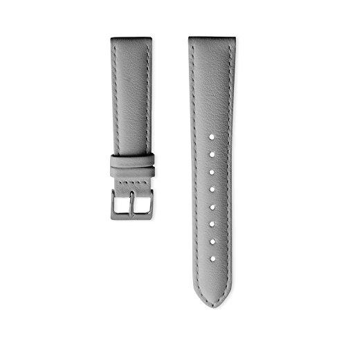 Nordgreen Lederarmband Grau für 36mm Uhren Gun Metal