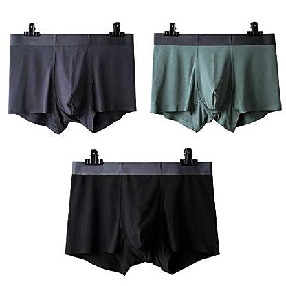 Ueither Bóxer para Hombre Ropa Interior de Algodón Elástica y Ultrasuave Calzoncillos Ajustados Comodidad Boxer Brief Pantalones