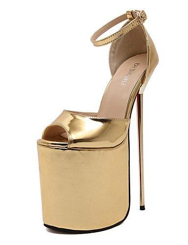 WSS 2016 Chaussures Femme-Mariage / Habillé / Soirée & Evénement-Argent / Or-Talon Aiguille-Talons / A Plateau / Nouveauté / Gladiateur / Escarpin silver-us6.5-7 / eu37 / uk4.5-5 / cn37