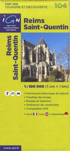 Reims Saint-Quentin : 1/100000