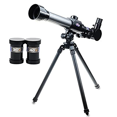 Soriace reg; Kids Astronomical Telescope with Tripod, 20/30/40X Science Stargazing Telescope Educational Learning Toy for Kids Beginners for Sky Star Gazing Birds Landscape Watching