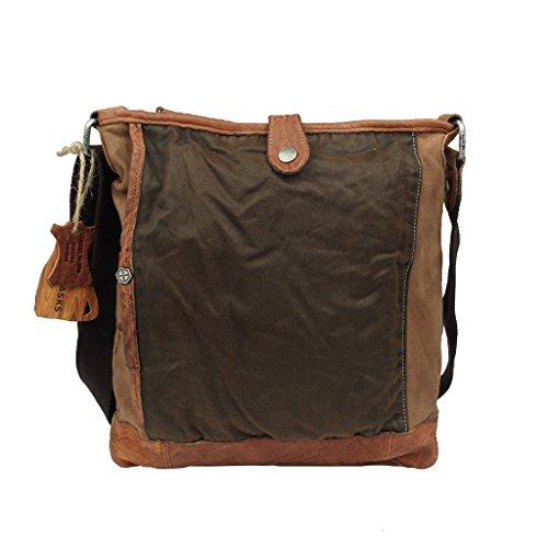 Linshi Tasks Unisex Canvas Bag Borsa Per il Tempo Libero Borse Messenger Borse a Spalla da Uomo Messenger Bag Borsa Postino Multifunzione,LT60390BN