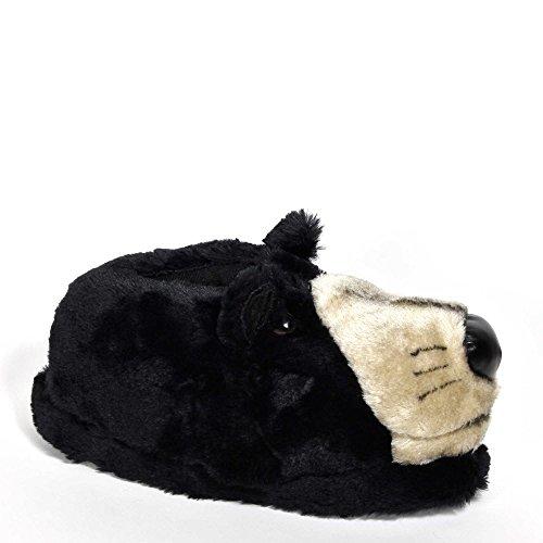 Sleeperz - Pantoufles Bear Animals - Adulte Et Enfant Noir