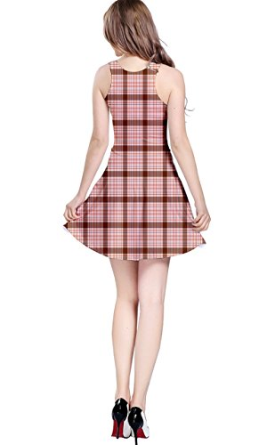Kleid rot braun